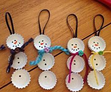 Kids' Christmas Crafts will help your kids spread some holly jolly cheer. You can make tons of DIY Christmas crafts, Christmas ornament crafts for kids, simple Christmas crafts for kids, angel crafts and snowmen crafts. Christmas Ornament Crafts, Snowman Crafts, Christmas Crafts For Kids, Homemade Christmas, Crafts For Teens, Holiday Crafts, Christmas Diy, Christmas Decorations, Christmas Hallway