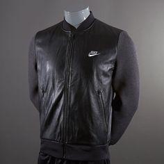 Nike CR7 Leather Track Jacket - Black Size L #pdsmostwanted