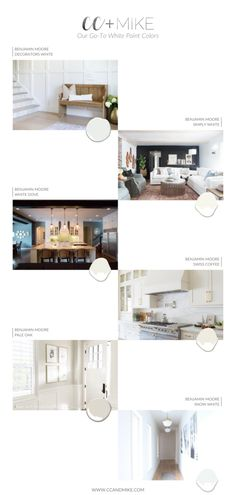 Today, we are talking about our go-to white paint colors. All whites are NOT created equal. These 6 picks are the tried-and-true favorites from CC + Mike. Best White Paint, White Paint Colors, White Paints, Neutral Paint, Beautiful Kitchen Designs, Beautiful Kitchens, Modern Farmhouse Exterior, Scale Design, Studio Mcgee