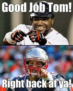 We're fans of Boston's biggest sports heroes, as they are of each other, too #patriots #redsox
