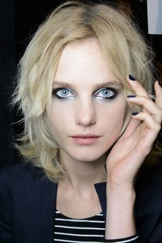 Jill Stuart #black and #silver eye #makeup for a dramatic look