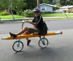 Pencil Bike by Ellen here and there