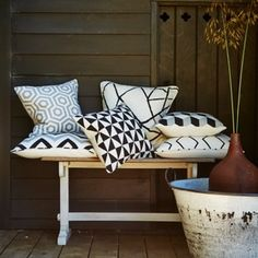 Prestigious Textiles have been designing beautiful interior fabrics and wallpapers for over 30 years. Choose from the UK's widest range of upholstery, cushion and curtain fabrics. Monochrome Pattern, Geometric Patterns, Prestigious Textiles, Shops, Month Colors, Deco Design, Outdoor Fabric, Boutique, Home Textile
