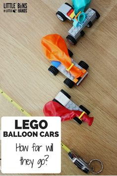 LEGO Balloon Cars for Kids STEM Activities Measuring Distance. Anything with balloons and legos are fine Lego Balloons, Balloon Cars, Lego For Kids, Stem For Kids, Legos, Balloon Powered Car, Auto Party, Lego Auto, Lego Challenge