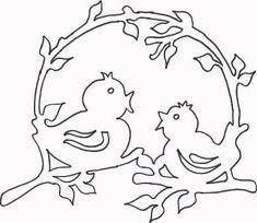 Шаблоны птичек для вырезания из бумаги: трафарет скачать и распечатать