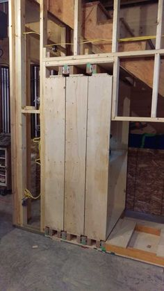 Slide out shelves for under the stairs storage in my garage. Slide out shelves for under the stairs Stairway Storage, Garage Storage Shelves, Slide Out Shelves, Garage Shelf, Closet Storage, Storage Stairs, Garage Workbench, Workbench Ideas, Industrial Workbench