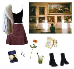"""""""The renaissance is over"""" by louisesuxx ❤ liked on Polyvore featuring Kookaï, Crate and Barrel, Estradeur, Saga Furs, Nook, Ann Demeulemeester and Caipirinha"""