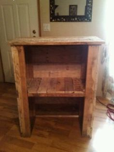 Building a living room hutch out of old wood pallets
