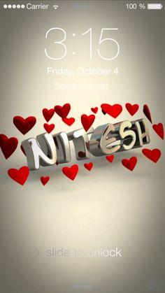 Preview Of In Love For Name Nitesh