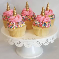 Gold Horn Cupcake Toppers + FREE Sprinkle Mix by ilovehoneybeecakes on Etsy https://www.etsy.com/listing/542574177/gold-horn-cupcake-toppers-free-sprinkle