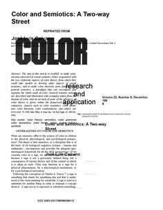 color and semiotics: a two way street