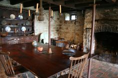 Kitchen of Daniel Boone home in Defiance, Missouri. Boone was living in Defiance when the Lewis and Clark expedition came through, but there is no record of them meeting.