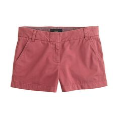"Jcrew chino shorts in ""rose tile"" - wish they came in a size that fit me."