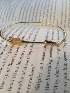 Simply Gold Arrow Bangle Bracelet by LayeredWithLove on Etsy, $16.00