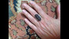 Diy Jewelry, Beaded Jewelry, Jewelry Rings, Jewellery, Diy Beaded Rings, Ring Tutorial, Creative Inspiration, Crystal Beads, Seed Beads