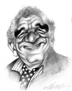 Caricatura de Gabriel Garcia Marquez