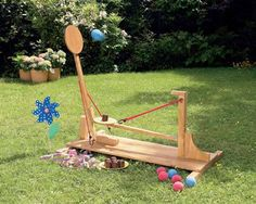 schokokusswurfmaschine kostenlose schritt fur schritt bauanleitung und plane kindergeburtstag basteln holz kindergeburtstag spiele
