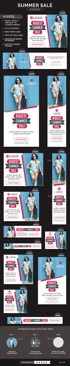Summer Sale Banners Template #design Download: http://graphicriver.net/item/summer-sale-banners/11886510?ref=ksioks