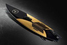 除了汽车,梅赛德斯奔驰这次推出了金色的冲浪板 | 理想生活实验室