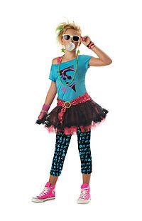 Tween Girls 80's Valley Girl Costume