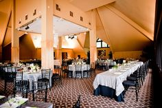 A Portland wedding - an elegant silver and black wedding reception with personal touches throughout the room.