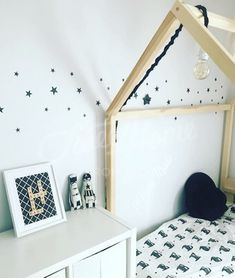 Toddler Bed, House Bed Crib Tent Bed Wooden House Wood House Kids Teepee  Bed Wood House Bed Wood Bed Frame Play Bed Floor Bed HEADBOARD