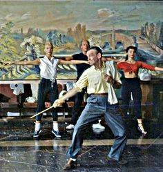 Fred Astaire. Dancing, naturally.