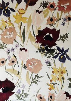 Lourdes Sanchez, untitled flowers 8 2013, watercolor