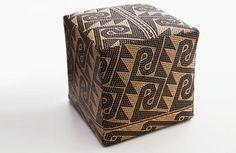 Walker Zabriskie's rattan pouf nods to Borneo.