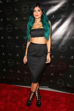 Kylie Jenner at the launch of her hair extension line at the James Kendall Salon in Beverly Hills on Nov. 13, 2014. AKM-GSI -Cosmopolitan.com