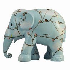 Elephant Parade | 10 cm Blossom and Birds | Elephant Conservation | Collectible | Hand Painted | Spring | www.homearama.co.uk