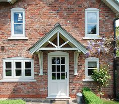 Gleaming white uPVC contemporary, storm-proof and sound-proof windows, giving you a good night's sleep! Soundproof Windows, Upvc Windows, Door Canopy, Kestrel, Extension Ideas, Exterior Doors, Door Design, Living Spaces, House Ideas