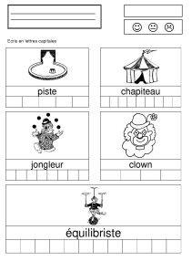 fiches cirque - la maternelle de Camille
