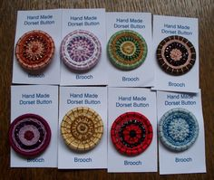 Button Brooches.  These are very nice, but I don't know who made them.  The link  only goes to a picture.