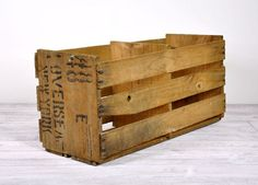 Wood crates are sought after for decor: Vintage Rustic Wood Crate / Wooden Box / by havenvintage on Etsy, $28.00