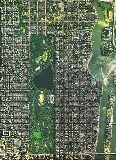NYC. Central Park, Upper Manhattan and Harlem from the sky