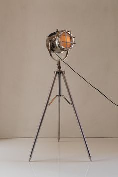 retro chrome lamp for corners metal floor lamp by thedezinez