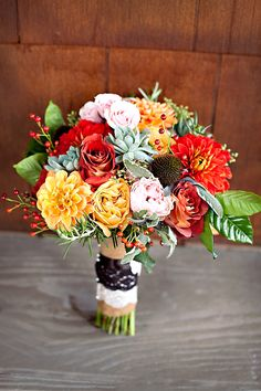Colourful wedding flowers | Floral Designer Unknown