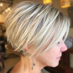 100 Mind-Blowing Short Hairstyles For Fine Hair - Hair Beauty Short Hairstyles For Thick Hair, Bob Hairstyles For Fine Hair, Short Hair Cuts, Curly Hair Styles, Short Pixie, Pixie Cuts, Pixie Hairstyles, Asymmetrical Pixie, Pixie Haircuts