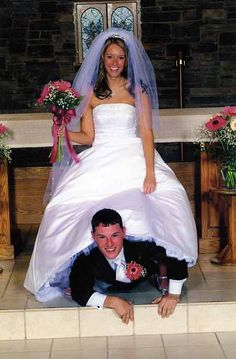 bride and groom, Funny wedding photos and engagement pictures, awkward