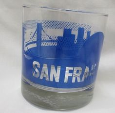 SOLD this in our eBay store...click photo for details.....  Sisters Of Los Angeles SOLA Popsugar Rocks City Cup Bar Glass San Francisco CA #SistersOfLosAngelesSOLAPopsugar #SOLA #California #SanFrancisco #rocks #bar #glass #drinks #girlsnightout