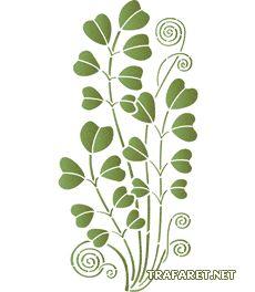 Stjälkar och blad 9 • mall till konst • återanvändbara schablon
