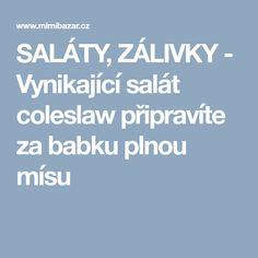 SALÁTY, ZÁLIVKY - Vynikající salát coleslaw připravíte za babku plnou mísu