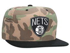 Nets Ambush High Crown Fitted Cap by MITCHELL & NESS x NBA