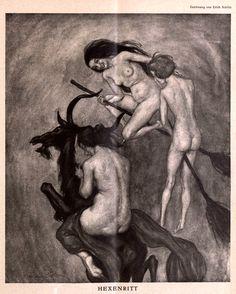 Erich Schütz (1886-1937), 'Hexenritt', from Die Muskete, Feb. 11, 1926 Source