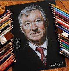 Big Credit To @theemptyhead On Twitter For Some Amazing Artwork On The Best Manager Of All Time  Go Check Them Out! Amazing Artwork, Cool Artwork, Sir Alex Ferguson, Manchester United, All About Time, Management, The Unit, Good Things, Twitter
