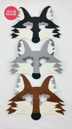 Really awesome felt Wolf mask or Coyote mask for pretend play by Mouse and Moose.