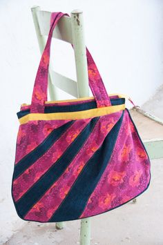 Big hot pink hobo bag made from South African by GcobaGcoba Pouch Pattern, African Inspired Fashion, How To Make Handbags, Hobo Bag, Bag Making, Hot Pink, Totes, Shops, Community