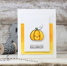 Happy Happy Happy Halloween Card by Laurie Willison for Papertrey Ink (August 2016)
