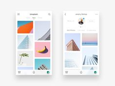 Trying something different & exercising a more minimal aesthetic. This is a potential direction of how Unsplash could be as an app. Was a fun one. Would you like to see a dark ui version of thi...